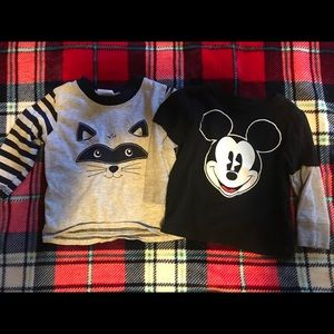 Two long sleeve toddler shirts